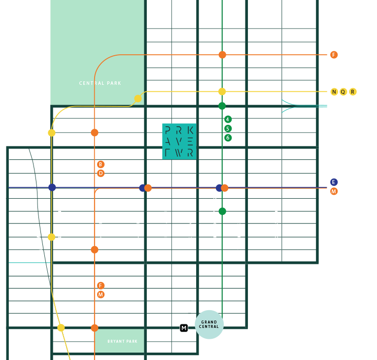 34 Subway Watch Concept Displays The Time Like A Subway Map.Park Avenue Tower 65 E 55th St Nyc